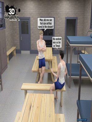 Porn Comics - 3DRape- Two prisoner Rape Police Woman  (Porncomics)