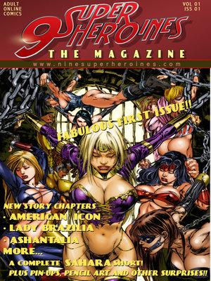 Porn Comics - 9 Super Heroines -The Magazine 1  (Porncomics)