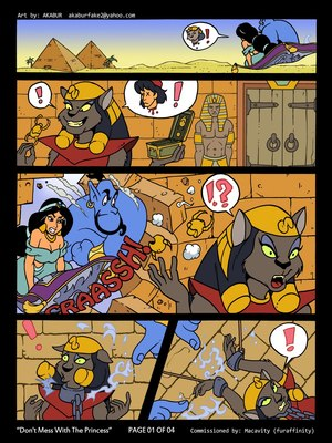 Porn Comics - Aladdin- Don't Mess With Princess,Akubar Adult Comics
