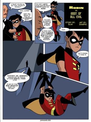 Porn Comics - Batman- Robin in Root of All Evil Adult Comics