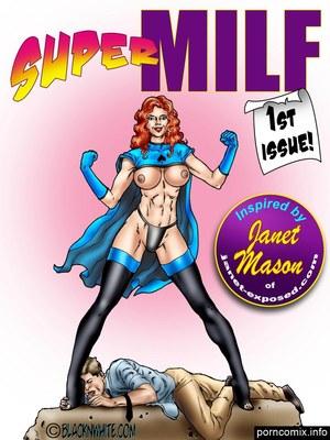 Porn Comics - BlacknWhite- Super MILF  (Interracial Comics)