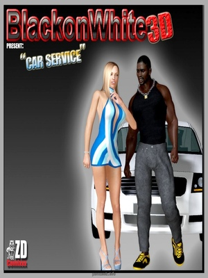 Porn Comics - BlacknWhite3D- Car Service  (Interracial Comics)