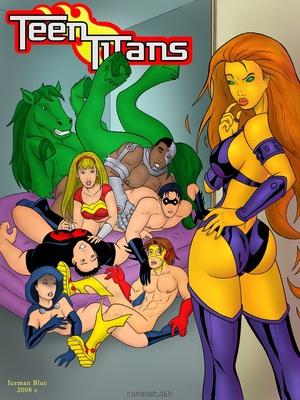 Porn Comics - [Iceman Blue] Teen Titans- Sex Education Porncomics