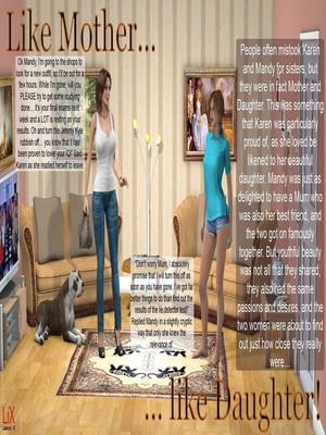 Lix- Like Mother… Like Daughter! 3D Porn Comics
