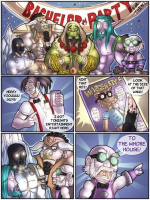 Porn Comics - Shia- A Warcraftian Bachelor Party  (Furry Comics)