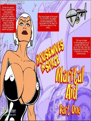 Porn Comics - SpaceBabeCentral- Housewives in Space- Marital Aid  (Adult Comics)