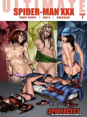 Porn Comics - Spidercest 7- Spider-Man XXX Porncomics