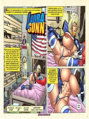Porn Comics - Superheroine Central- Laura Gunn Porncomics
