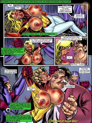 Porn Comics - Superheroine Central- Mighty cow Porncomics