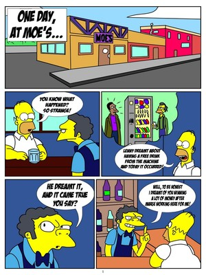 Porn Comics - The Simpsons- One Day At Moe's Cartoon Comics