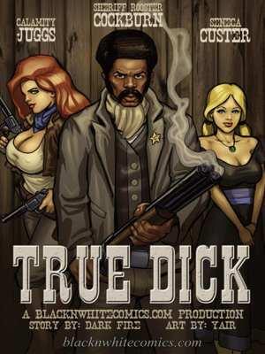 True Dick- Bnw, BlacknWhite  (Interracial Comics)