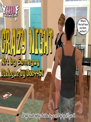 Porn Comics - Y3DF – Crazy Night  (Y3DF Comics)