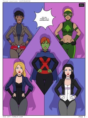 Porn Comics - Young Justice Supergreen  (Porncomics)