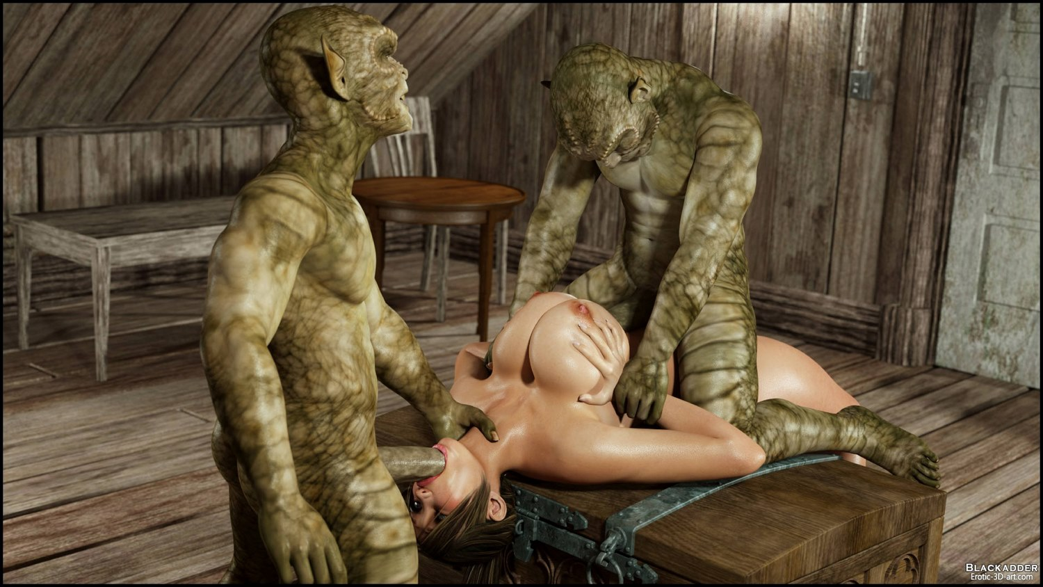 Hot milf ciri drilled in pussy by gremlins